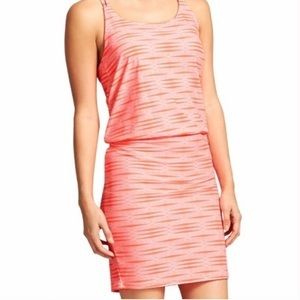 Athleta Ariel Venic Coral Pink Strapoy Dress Sz. S